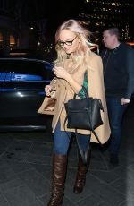 Emma Bunton Arriving at Global Radio in Leicester Square in London