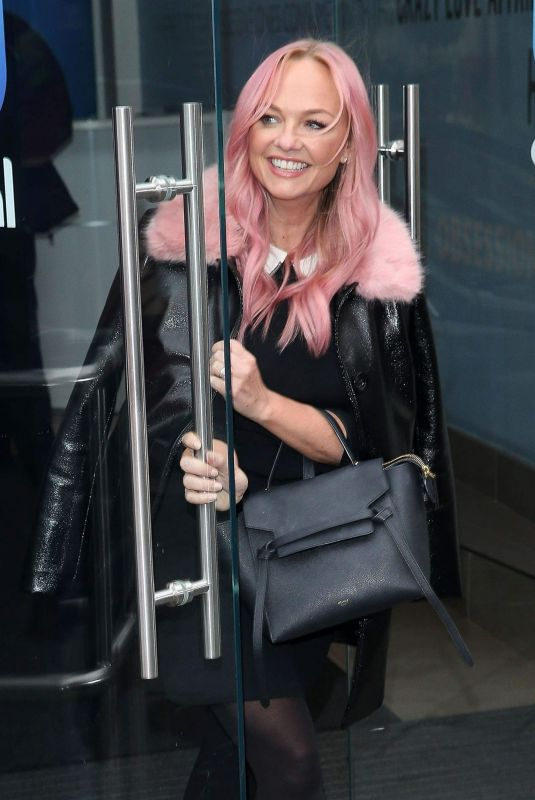 Emma Bunton Exiting the Global Radio Studios after the Spice Girl launch in London