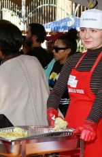 Emma Kenney At Los Angeles Mission Thanksgiving Meal for the Homeless