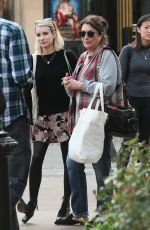 Emma Roberts and her mom shopping at the Grove