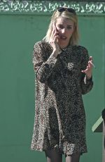 Emma Roberts Has a smoke while chatting on the phone in West Hollywood
