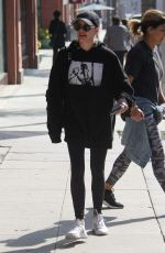 Emma Roberts Leaves a gym in Beverly Hills