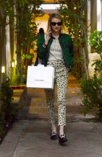 Emma Roberts Shopping on Melrose Place in Los Angeles