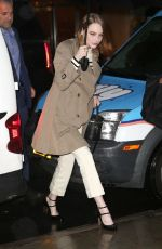 Emma Stone Braves the rain as she arrives at the Robin Williams Center in NYC