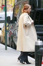 Emma Stone Heading out of her hotel in New York City