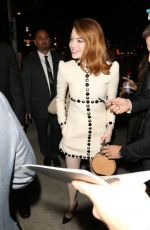 Emma Stone Signs for fans as she arrives at