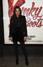 Faye Brookes At Kinky Boots Press Night at The Opera House Theatre in Manchester
