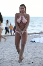 Francesca Brambilla Enjoys a day at the beach in Miami