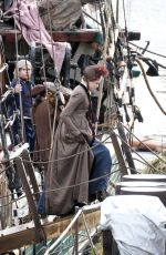 Gabriella Wilde Filming Poldark in Charleston in Cornwall