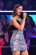 Hailee Steinfeld On stage at the MTV EMAs Show 2018 in Bilbao, Spain