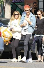 Hilary Duff Grabs breakfast with Matthew Koma and their daughter Banks in Studio City