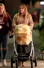 Hilary Duff Grabs dinner with her friend in LA