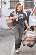 Hilary Duff Out with her 3 week old newborn daughter in Studio City