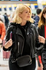 Holly Willoughby Arriving At Heathrow Airport in Longford, England