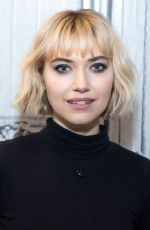 Imogen Poots Visits AOL Build in New York