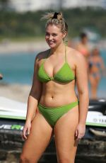 Iskra Lawrence During Miami Beach photoshoot for Aerie
