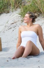 Iskra Lawrence In bikini during Miami Beach photoshoot for Aerie