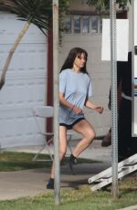 Jamie Dornan and Shailene Woodley On the set of the untitled Drake Doremus movie in Los Angeles
