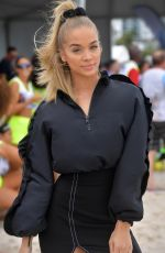 Jasmine Sanders Attends the Sports Illustrated swimsuit soccer event in Miami