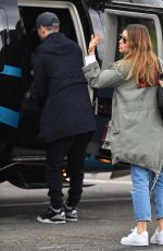 Jessica Biel Leaves the Heliport in New York City