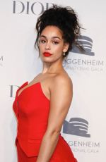 Jorja Smith At Guggenheim International Gala Pre-Party Made Possible BY Dior, New York