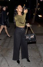 Karrueche Tran At Delilah nightclub in West Hollywood