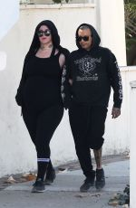 Kat Von D and Rafael Reyes ignore the smoke filled air and go for a hike in Los Angeles