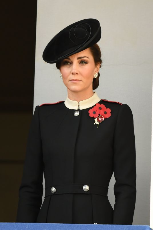 Kate Middleton At The annual Remembrance Sunday memorial in London