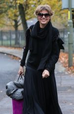 Kate Silverton Arriving For Strictly Come Dancing Rehearsals in London