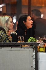 Katharine McPhee Has dinner with a girlfriend at Il Pastaio in Beverly Hills