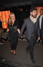 Katherine Jenkins and Andrew Levitas seen leaving Ronnie Scott