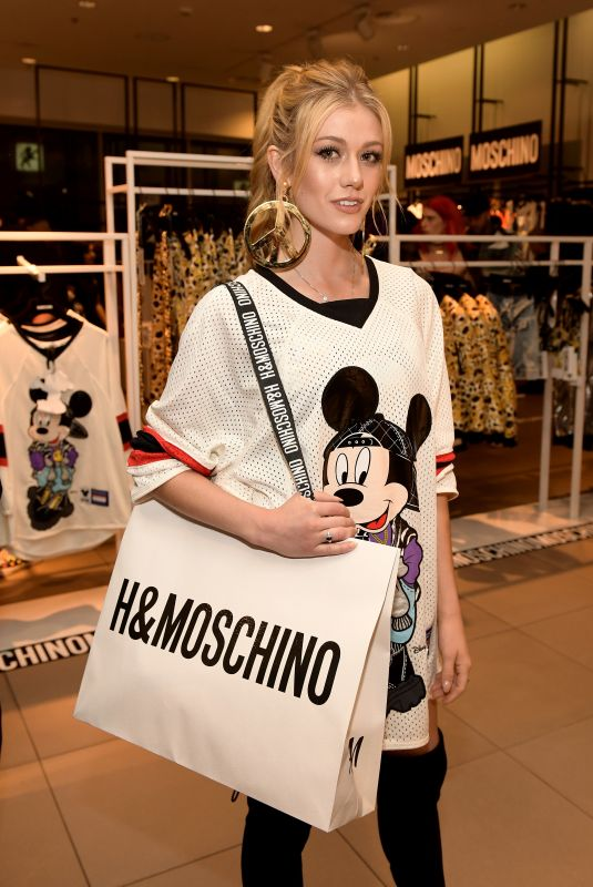 Katherine McNamara Attends the Moschino x H&M Los Angeles Launch Event at H&M in Los Angeles