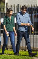 Katie Holmes On the set her new movie in New Orleans
