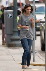 Katie Holmes On the set of her new film