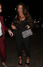 Katie Price Arriving at Phil Turners 50th Birthday party in London