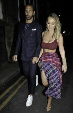 Katie Wright At Rosso Restaurant in Manchester