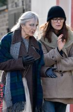 Keira Knightley Walking to a coffee shop with her mum in Islington, London