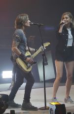 Kelsea Ballerini Performs on stage with Keith Urban at the Smoothie King Center in New Orleans