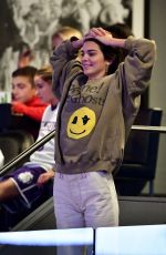 Kendall Jenner Attends the Philadelphia 76ers vs Brooklyn Nets game at Barclays Center of Brooklyn in New York City