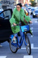 Kendall Jenner Riding a Citibike in NYC