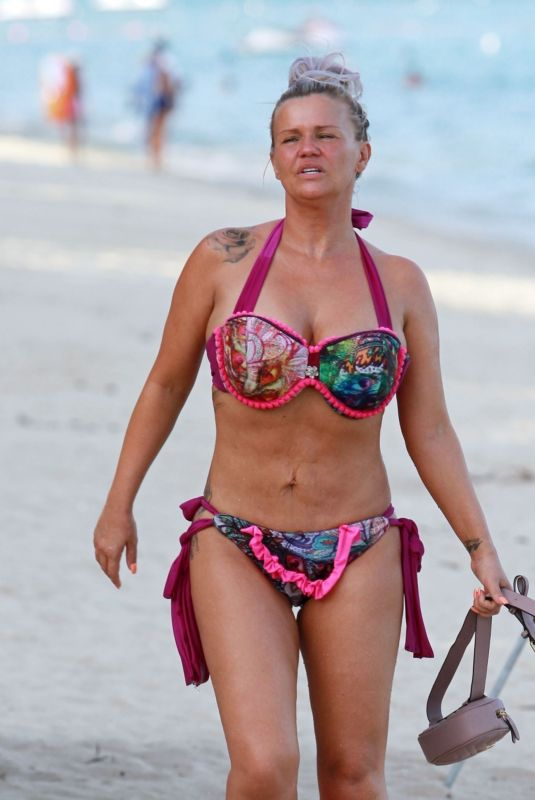 Kerry Katona Having some fun on the beach in Thailand