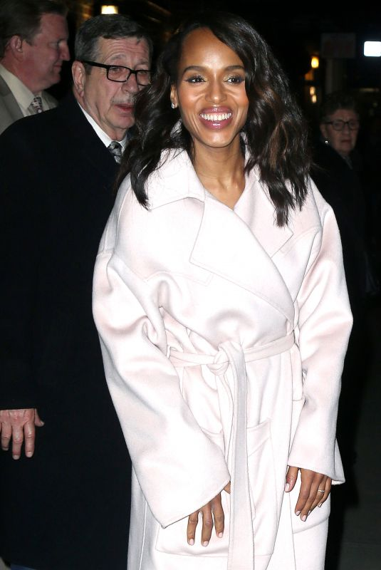 """Kerry Washington Visits """"The Late Show with Stephen Colbert"""" in New York"""