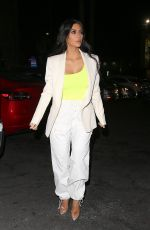 Kim Kardashian Leaving a restaurant during a night out in Hollywood
