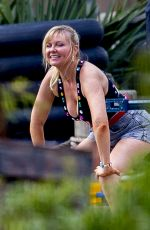 "Kirsten Dunst Filming scenes of her new AMC series ""On Becoming a God in Central Florida"