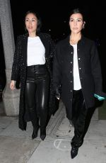 Kourtney Kardashian At Dinner out with a friend at a sushi restaurant in Beverly Hills