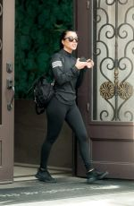 Kourtney Kardashian & Larsa Pippen Exit out the back door at La Scala in Beverly Hills