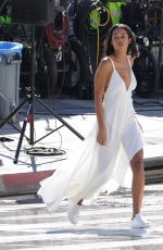 Laura Harrier During a photo shoot in Downtown Los Angeles