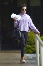 Lea Michele Makeup free while running errands in LA