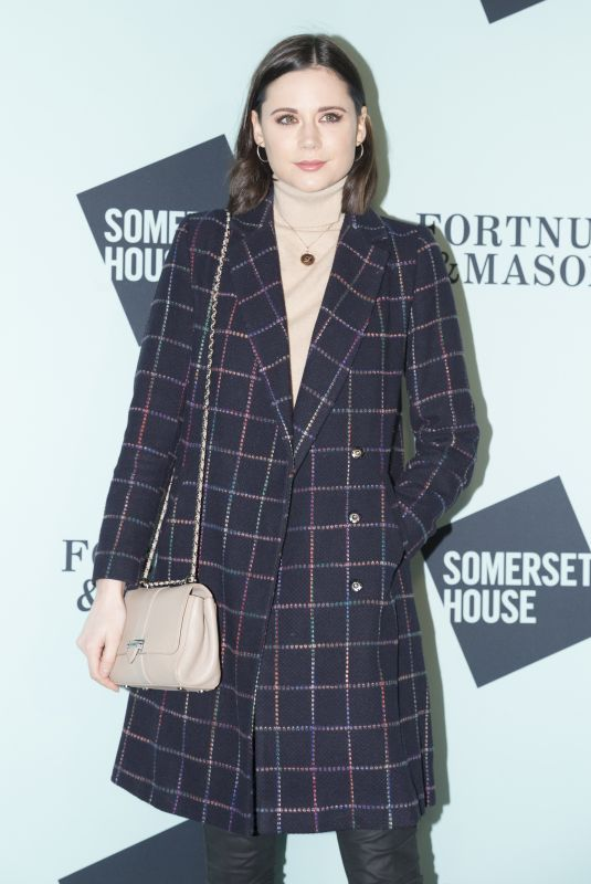 Lilah Parsons At Somerset House with Fortnum and Mason Launch Party in London