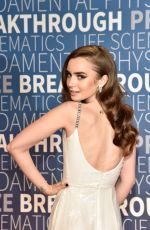 Lily Collins At 2019 Breakthrough Prize in Mountain View